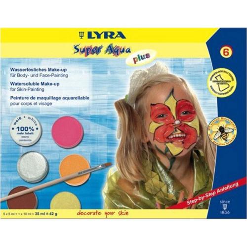 Lyra Super Aqua Plus Fırçalı Tablet Yüz Boyası 6 Renk